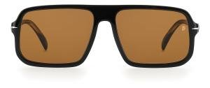 DAVID BECKHAM DB 7007/S 807 Solbrille Sort med Brun glass