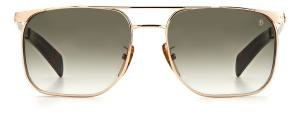 DAVID BECKHAM DB 7048/S solbrille med sorte glass